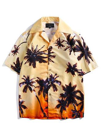 Мужской гавайский Пляжные рубашки