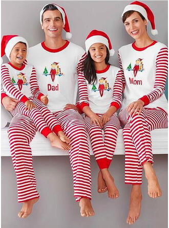 Striped Print Family Matching Christmas Pajamas Pajamas