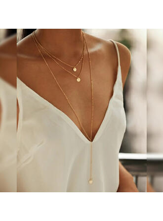 Simple Charming Alloy Copper Jewelry Sets Necklaces (Set of 3)