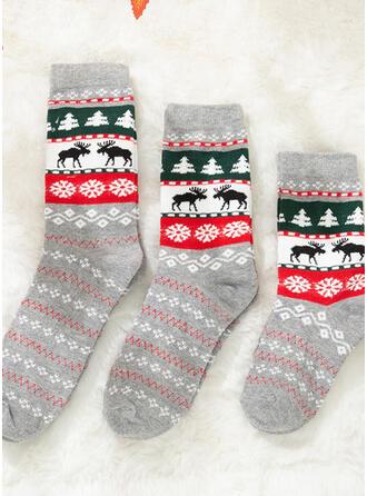 Jule Reinsdyr Komfortabel/Jul/Crew sokker/Familie matchende/Unisex Sokker