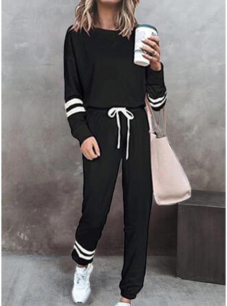 Color Block Fritids sweatshirts & Tvådelade kläder uppsättning