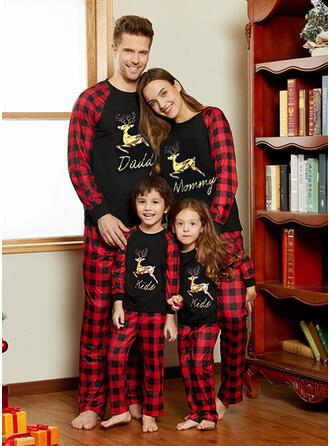 северный олень Плед Письмо Семейное соответствие Рождественская пижама