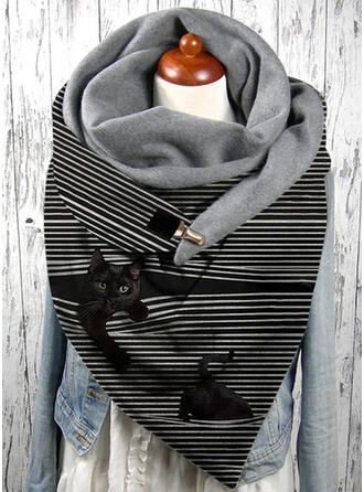 Striped/Animal attractive/fashion/Black Cat Scarf