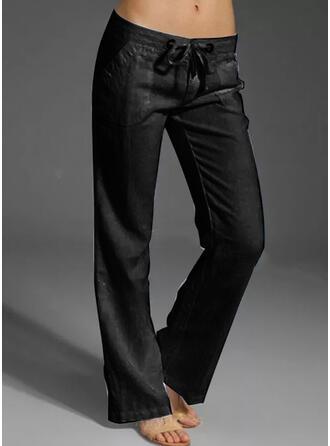 Solid Uzun gündelik Tatil Büyük beden Drawing Pantolonlar Lounge Pantolon