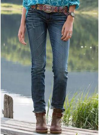 Shirred Plus Size Long Elegant Tribal Denim & Jeans