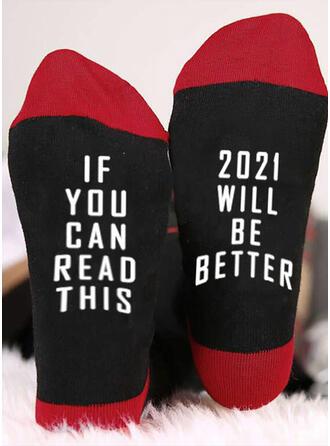 Tekst/Trykk Komfortabel/Crew sokker/2020/Unisex Sokker